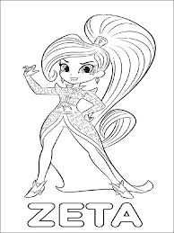 Shimmer And Shine Printable Coloring Pages Shimmer And Shine