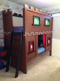 Mario Bedroom Super Mario Bunk Bed Castle With Embroidered Character Curtains