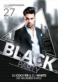 Flyer Black And White Club Party Psd Flyer Template
