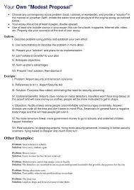 modest proposal essay examples com modest modest proposal essay examples 19 modest proposal argument assignment unit 3 satire