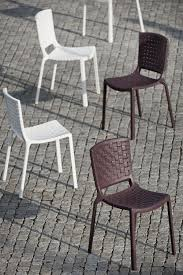 tatami 305 outdoor chairs white and brown colours