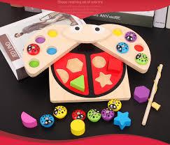 Educational toy Baby Wooden toys Ladybug Game multicolour ...