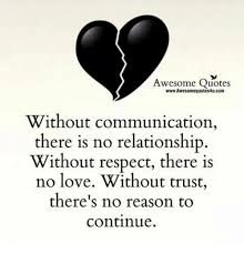 Awesome Quotes WwwAwesomequotes40ucom Without Communication There Is New No Love Quotes