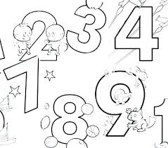 Numbers Coloring Pages 1 10 Number For Free Color By Colour