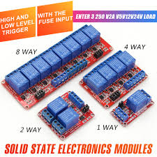 WAVGAT <b>1 2 4</b> 8 Channel 5V <b>12V</b> Relay Module Board Shield with ...