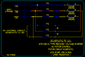 linked image schematic 2 a wye delta open transition type starter motor circuitry