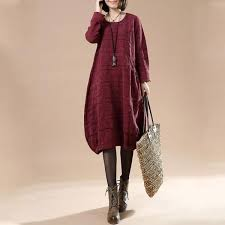 <b>Autumn Large Size</b> Women's Casual Long Sleeve Round Neck ...