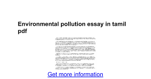 environmental pollution essay in tamil pdf google docs