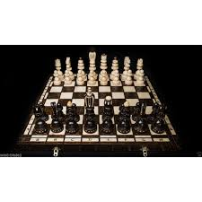 brand new luxury hand carved roman wooden chess set