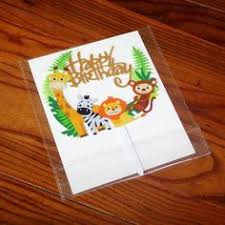 1pcs <b>Jungle</b> Animal Cake Topper Happy <b>Birthday</b> Party Decorations ...