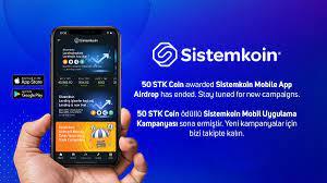 Sistemkoin - 🇬🇧 50 STK Coin awarded Sistemkoin Mobile App...