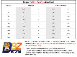 Dragon Ball Z Power Chart Awesome Super Power Dbz Summer T Shirt