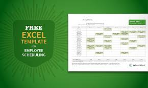 work scheduler excel free excel template for employee scheduling when i work when i work