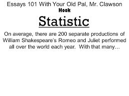 essays your old pal mr clawson five paragraph essay  10 essays