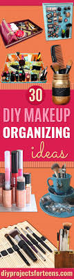 diy makeup organizing ideas projects for makeup drawer box storage jars and