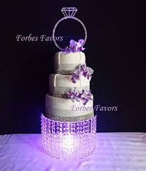 wedding cakes with lights. Plain Wedding Forbes Favors  Single Acrylic Crystal Chain Chandelier Cake Stand With  Battery LED Lights For Wedding For Cakes I