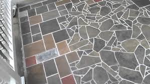 outdoor mosaic slate tile flooring