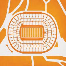 Neyland Stadium Map Art