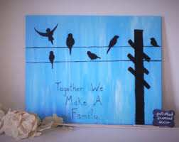 canvas wall art together we make a family birds on a wire simple blue painting telephone wire blended family art bird silhouette on birds on wire canvas wall art with wall art carpe diem dandelions birds black and white