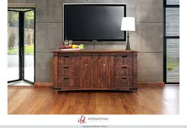 68 solid pine wood pueblo 70 tv stand with sliding doors in deep brown finish awesome