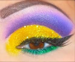 mardi gras eye make up