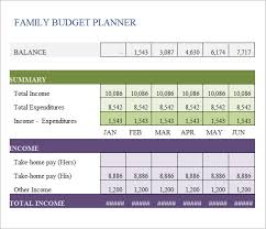 Sample Of Family Budget Family Budget Template 9 Free Samples Examples Format