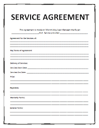 Free Service Contract Template Service Agreement Template Free Printable Ms Word Format