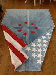 Best 25+ American flag quilt ideas on Pinterest | Flag quilt, Blue ... & Gorgeous American Flag Quilt made from by isabellabluedesigns Adamdwight.com