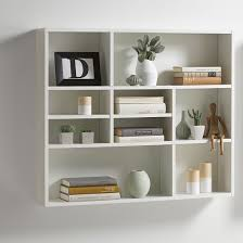... White Wall Shelving Units Wooden Decorative Floating Shelf With  Contemporary Design Andreas Wall Mounted Shelving Unit ...