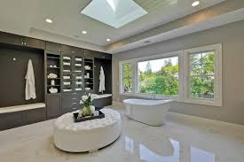 luxury master bathrooms. Master Bathroom With Handheld Shower Head And A Freestanding Tub. Luxury Bathrooms L