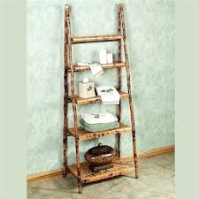 ladder display shelf wooden