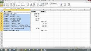 Excel Journal Entry Template Import Journal Entry Into Quickbooks From Excel Using Iif File Read My Notes In Description