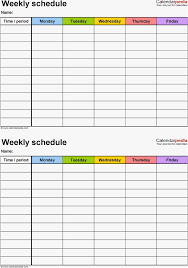 2 Week Calendar Template Professional 2 Week Schedule Template Excel ...