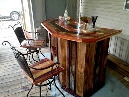 Fine Diy Wood Bar Pallet With Chairs O In Decorating