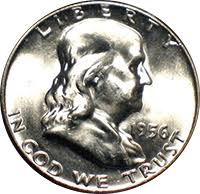 1956 Ben Franklin Half Dollar Value Cointrackers