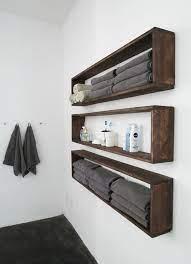 diy wall shelves in the bathroom