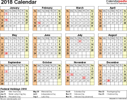Year At A Glance Calendars 2018 Calendar Pdf 17 Free Printable Calendar Templates