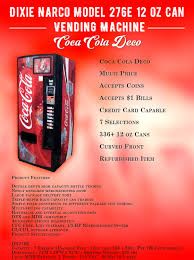 Dixie Narco Vending Machine Troubleshooting Custom Dixie Narco Model 48E 48 Oz Can Vending Machine Coca Cola Deco