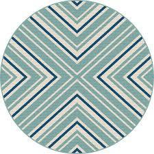 8 round blue and aqua indoor outdoor rug garden city rc willey furniture