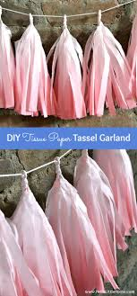 diy tissue paper tassel garland 7 more easy party decorating ideas