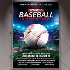 Baseball Brochure Template Baseball Championship Premium Flyer Psd Template