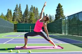 Yoga and tennis
