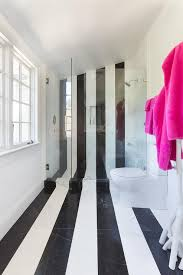 bathroom tiles black and white. Delighful Black Bathroom With Black And White Stripe Tiles View Full Size For And