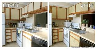 Painting Over Kitchen Cabinets Diy Painting Kitchen Cabinets Before And After Painting Melamine