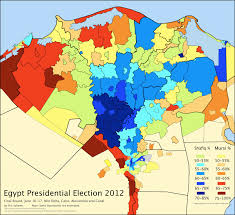 district map of the presidential election in lower egypt an Egypt History Map Egypt History Map #28 egypt history podcast
