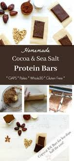 homemade chocolate and sea salt protein bar copycat rx bar health home