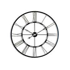 silver iron skeleton clock