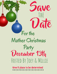 Christmas Party Save The Date Templates 7 900 Save The Date Party Customizable Design Templates