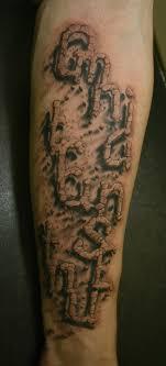 фото тату 3д надпись из камней татуировки и эскизы надписи