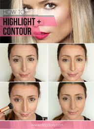 diy makeup highlight and contour